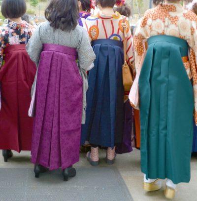 卒業式の袴姿